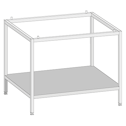 Base frame UG I for Combi-Duo model 62 on 62. Height 210mm (for Combi-Duo with appliance feet only)