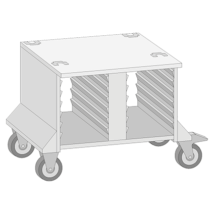 UGII Partially Enclosed Mobile Stand for Models 61 and 101