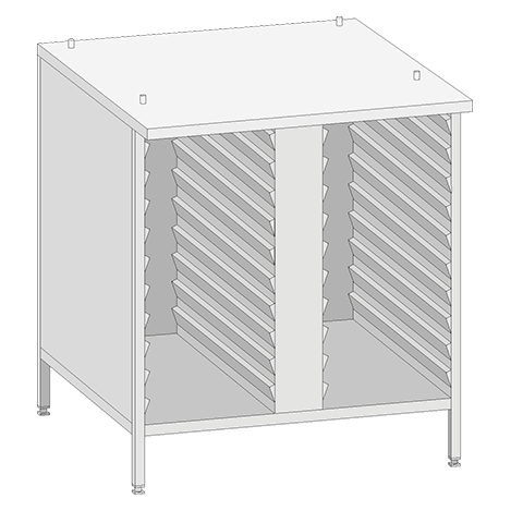 Base Cabinet USIII (Model 61) in combination with UltraVent or Exhaust hood