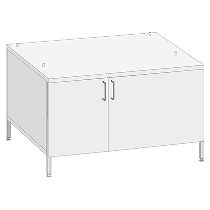 Mobile Base Cabinet US IV, with doors for models 62 and 102