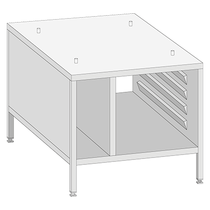 XS UG II XS Stand, with side and top panels for Model 6 2/3
