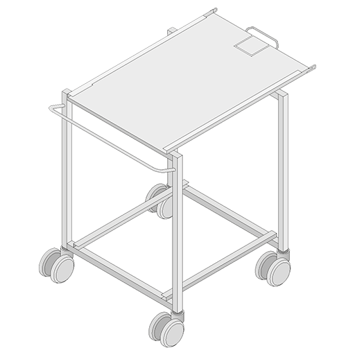 Transport Trolley for Mobile oven rack, for Model 62/102