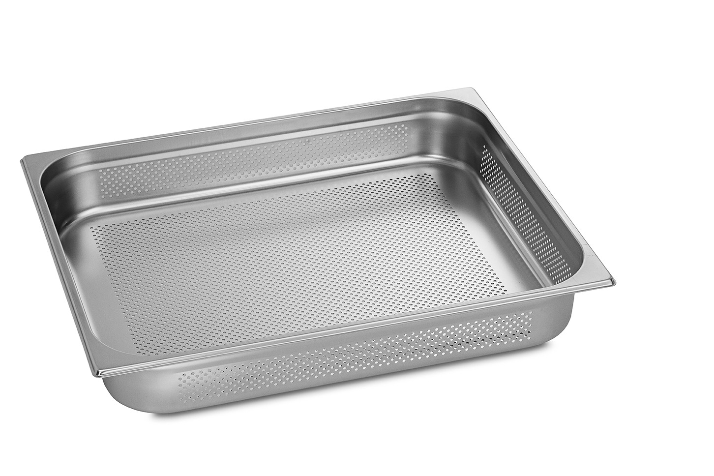 Stainless Steel Perforated Pan 2/1GN 65mm deep